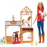 Jucarie Set Papusa Barbie veterinar si ferma de animale GCK86 Mattel, Hasbro