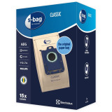 Saci aspirator S-bag Classic MultiBag E200SM, 15 bucati, Electrolux