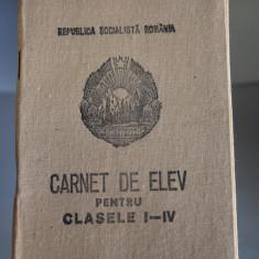 Carnet de Elev Clasele I-IV - RSR - Scoala Generala 33 Iasi