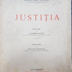 GIORGIO DEL VECCHIO - JUSTITIA, BUCURESTI 1936