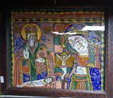 Sf. Nicolae si Maica Domnului, Icoana Romaneasca pe sticla, cca. 1900