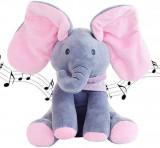 Jucarie Interactiva Elefant, Canta si Vorbeste in Limba Engleza, Peek a Boo