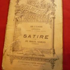 Dem.C.Ollanescu (Ascanio) -Satire / Pe malul garlei -BPT nr 63 -1908 ,96pag