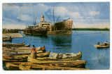 1762 - BRAILA, ship & boats - old postcard, CENSOR - used - 1918, Circulata, Printata