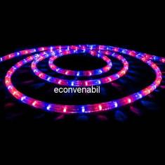 Furtun Luminos 100m 2600 LEDuri Rosu Albastru CL