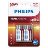 Cumpara ieftin Set baterii Power Alkaline Philips, 6 x LR3 AAA, 1.5 V