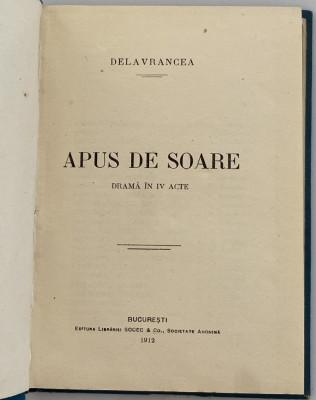 Barbu Delavrancea - Apus de Soare - coperta ORIGINALA 1912 foto
