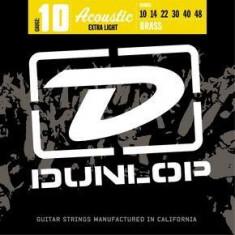 Corzi chitara acustica Dunlop 80/20 Brass Extra Light 10-48