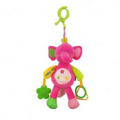 Jucarie pentru bebelusi BabyMix Elefant STK12599ER, Roz