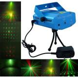 Cumpara ieftin Mini Proiector Laser tip DPPS cu efect de artificii, luminite verzi si rosii pentru interior