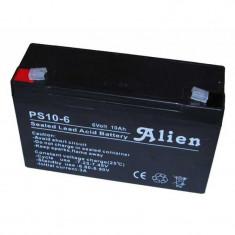 Acumulator stationar 6V 10Ah, Plumb Acid VRAL AGM Alien