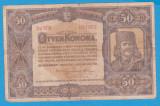 (11) BANCNOTA UNGARIA - 50 KORONA 1920 (1 IANUARIE1920) SERIA 5a008/691967