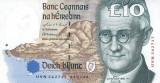 Bancnota din IRLANDA - 10 pounds 1999 - Stare f. buna.