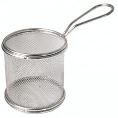 Coș rotund de servire din metal 9x9cm MN0198888 Raki