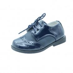 Pantofi eleganti pentru baietei MRS S28B, Bleumarin