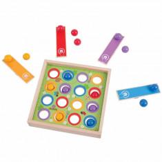 Joc de indemanare Bilute saltarete, 4 lansatoare de bile, 16 bile colorate