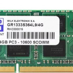 Memorie ram laptop Sodimm GOODRAM 4Gb DDR3 1333Mhz PC3-10600, 1.5V, CL9