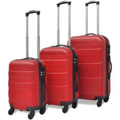 Set valize rigide roșii, 3 buc.