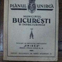 Planul Unirea Municipiul Bucuresti 1934