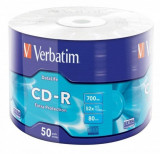 Mediu optic Verbatim CD-R 52X 700MB 50PK SHRINK