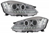 Faruri LED compatibil cu Mercedes W221 S-Class (2005-2009) Facelift Look Semnalizare Dinamica Secventiala