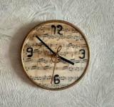 ceas vinil disc vechi, ora de muzica clasica, cafenea vintage, bar retro, cadou