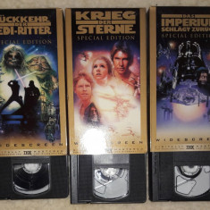 Box ser 3 casete video Star Wars- Războiul stelelor,in germana, Caseta video, Altele