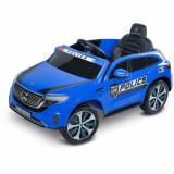 Masinuta Electrica cu Telecomanda Mercedes-Benz Eqc Police 12V Albastra