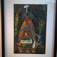 Guașă realizată de artistul Ștefan Pelmuș