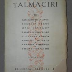 TALMACIRI (DUPA 8 POETI EUROPENI) - MIRON RADU PARASCHIVESCU