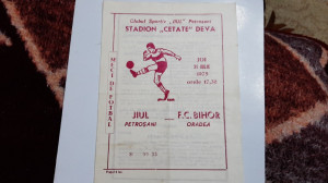 program       Jiul  Petrosani   -   FC  Bihor