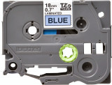 Banda continua laminata Brother TZE541 18mm 8m Negru pe Albastru