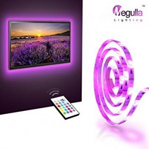 Kit Premium 2x Banda LED USB pentru Iluminare Ambientala in Spatele Televizorului Backlight TV RGB