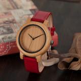 Cumpara ieftin Ceas din bambus Bobo Bird cu curea din piele, J09