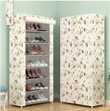 Suport pantofi alb flori
