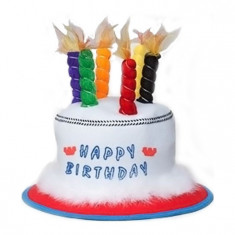 Palarie Happy Birthday ,Marime Universala, Multicolor
