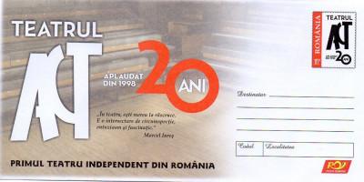 Primul Teatru Independent din Romania, intreg postal necirculat, 2018 foto