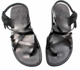 Sandale Romane Piele Naturala Summer Negre, 35 - 37, 39, 40, 42 - 45, Negru, Sandaleromane