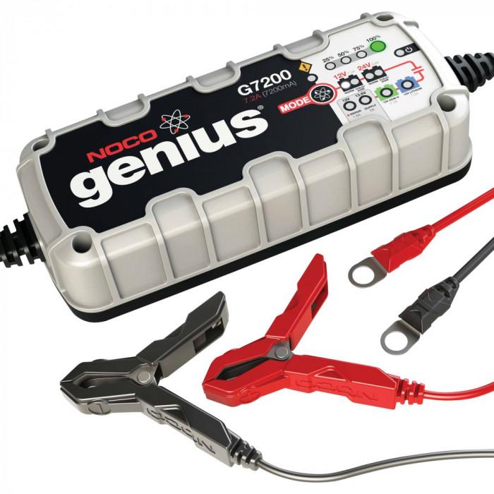 Incarcator acumulator auto Noco Genius 12/24V G7200EU 7.2A functii de diagnoza recuperare incarcare mentenanta,