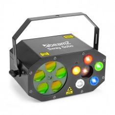 Beamz SWAY GOBO LASER GOBO RGBWA, stroboscop RGBWA și laser, telecomandă