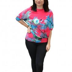 Bluza tinereasca Janelle,imprimeu floral multicolar