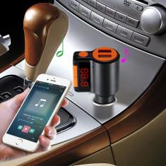 Modulator FM cu bluetooth, KCB-905,Dual USB, Micro SD