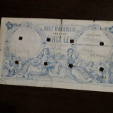 Bilet Hypothecar 5 lei 1877