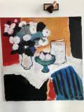 Tablou Carmen Cretzu - Iacob, Natura statica cu flori, ulei pe panza, 90 x 95 cm, Altul