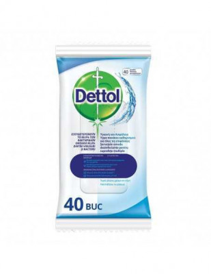 Servetele dezinfectante Dettol Original, 40 buc foto