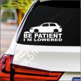 Be Patient I'm Lowered Model 2 -Stickere Auto-Cod:ESV-123 -Dim 20 cm. x 9.6 cm.
