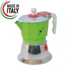 Espressor Top Moka Inductie Verde 3 cesti