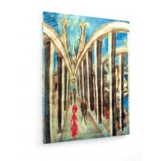Tablou pe panza (canvas) - Ernst Ludwig Kirchner - Bridge across the Rhine