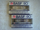 Lot 2 Casete Audio BASF Chromdioxid Extra II 90 min - NOI Sigilate