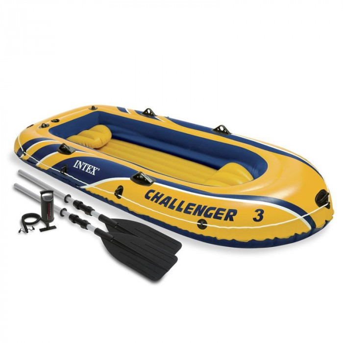 Barca gonflabila Challenger 3 Intex, 295 x 137 x 43 cm, 3 persoane